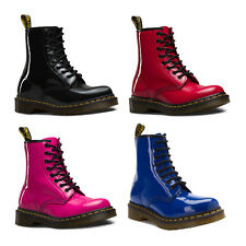 Dr Martens 1460 Airwair Leather 8 Eye Women Ankle Boots Patent Lamper All Sizes