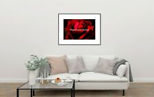Red Rose Flower Wall Art Home Decor Modern Art Print Signed Matted Picture A589