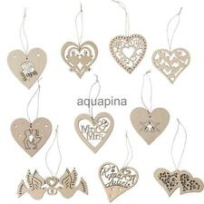 10 Wooden Heart Tags Unfinished Wood Scrapbooking Embellishments DIY Craft