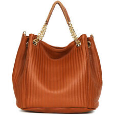 New leather HandBag Shoulder Women bag brown black hobo tote purse designer la4