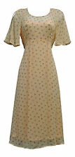 New Deco 1920's Downton Flapper Charleston Gatsby Nude Chiffon Cami Day Dress