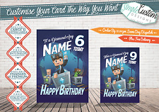 Dan TDM - MINECART - Personalised Birthday Card ~ANY RELATION~ SAME DAY DISPATCH