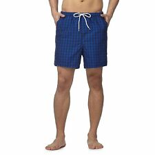 Maine New England Mens Blue Gingham Check Shorts From Debenhams
