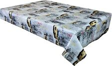 New York Street Scene Vinyl Tablecloth pvc Textile Backed  Wipe Clean   (223)