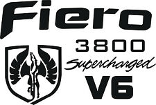 Pontiac Fiero 3800 Supercharged Graphic Decal