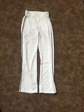 Alleson Athletic White With Black Pinstripe Men's Baseball Pants NEW