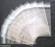 1000 SELF SEAL RESEALABLE CLEAR CELLO CELLOPHANE BAGS-135 x 205mm + 30mm LIP