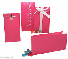 24 NEW HOT PINK STAND UP PAPER BAGS-PERFECT FOR LOLLY/PARTY/GIFTS/SHOPS ETC.