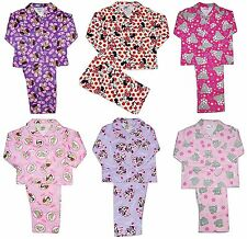 Girls Disney Princess Minnie Mouse Doc Sofia Fairy Flannelette Winceyett Pyjamas