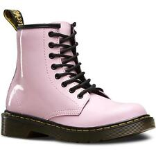 Dr Martens Delaney Junior Baby Pink Patent Ankle Boots