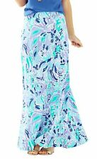 NEW Lilly Pulitzer cotton NOLA Maxi SKIRT in Lillys Lilac Nice Ink S