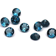 Natural London Blue Topaz Round Faceted Cut 3mm to 8mm AA Quality Loose Gemstone