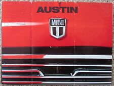 1970 Austin Mini 1000 850 British Leyland FRENCH Sales Folder Austin AFIVA