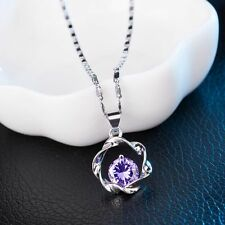 Circle Pendant&Necklace Silver Choker Exquisite Chain Sweet Lady Necklace