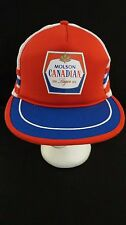 MOLSON CANADIAN Lager Beer Trucker Hat Cap Snapback Hipster Red White Blue