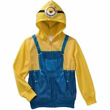 Minion Childs Boys Size Movie Costume Hoodie Sz M (8), L (10-12) NWT