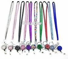 Multi Color Bling Rhinestone Lanyard and Retractable Reel for ID Badge holder