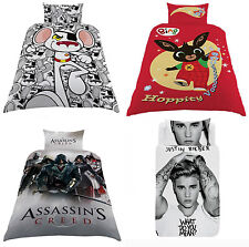 Kids Reversible Duvet Cover Single Bed Set Pillow Case Quilt Cover Bedding Creed