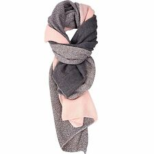 Womens Ladies Cashmere Like Autumn/Winter Splicing design Scarf Stole Wrap...