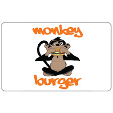 Monkey Burger Gift Card - $25 $50 or $100 - Fast Email delivery