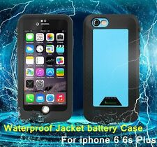 Rechargeable Waterproof Battery Case Charger Cover For Apple iPhone 6 6S Plus
