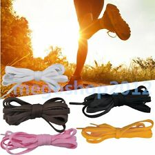 """Flat 47"""" 55"""" Athletic Shoe Laces Shoelaces BOOTLACES strings FOR Sneakers b XB"""