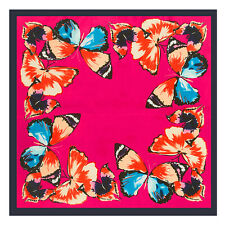 Spring Butterfly Elegant Jacquard Women's 100% Silk Scarf Shawl Square Wrap