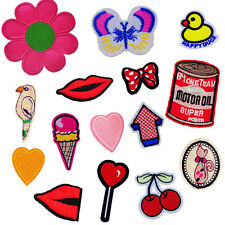 10PCS Embroidered Flower Patches Appliques Sew On Patch for Clothing Bag Cap