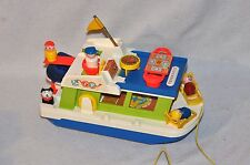 Vintage Fisher Price Little People Houseboat 985 100% Complete