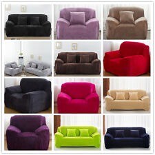 New Slipcover Comfy Plush Sofa Couch Cover Durable Protector For 1 2 3 4 Seater