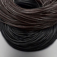 Genuine Leather Cord Thread For Diy Bracelet Necklace Jewelry Making Pick Size