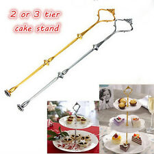 new 1 Sets 2 or 3 Tier Cake Plate Stand Handle Crown Fitting Metal Wedding Party