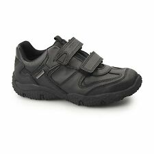 GEOX JR BALTIC ABX Boys Dual Touch Fasten Warm Lined School Shoes Trainers Black
