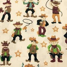 "Cowboy Printed poly cotton Fabric 115cm 45"" wide"