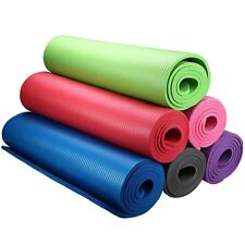 "10mm Extra Thick Non-slip Yoga Mat Pad Exercise Fitness Pilates Sport 72"" x 24"""