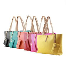 Women PU Leather Tote Shoulder Bag Hobo Handbags Satchel Messenger Purse LOT BU