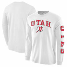 Utah Utes White Distressed Arch Over Logo Long Sleeve Hit T-Shirt - College
