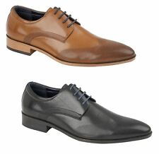 Mens Dorchester Smart Fashion Leather Formal Casual Lace Up Brogue Shoes Size