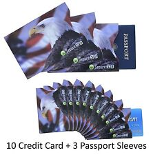 RFID Blocking Premium Sleeve Set for Credit Card & Passport ID Protection