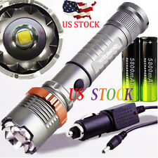 Zoomable CREE XML T6 LED Tactical 18650 Waterproof Flashlight Torch Lamp Light