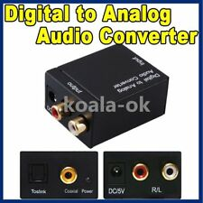 RCA Digital Optical Coax Coaxial Toslink to Analog Audio Converter Adapter htyyk