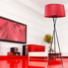 Modern 1-Light Tripode Floor Lamp Red Ribbon Shade Reading / Living Room 1740mm
