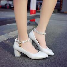 Women's Pointed Toe Pearl decorate Strappy Wedge Heel Date pu leather Sandals