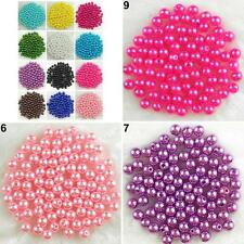 500x 6mm Acrylic Round Pearl Spacer DIY Craft Jewelry Making Loose Beads Astute