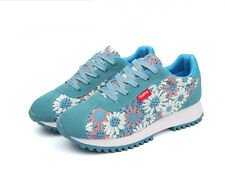 Womens Casual Sneakers Lace Up Running Loafer Sports Athletic Floral Print Shoes