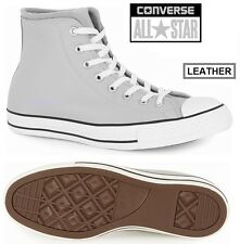 CONVERSE All Star Mens Grey LEATHER & WOOL Hi Tops Shoes Trainers
