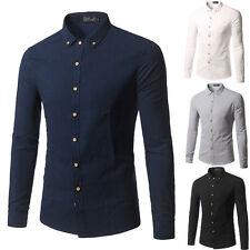 New Mens Comfortable Stylish Casual Long Sleeve Dress Shirts Slim Fit Shirts b07