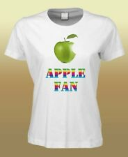 "Fun T-Shirt ""Apple Fan"" Size S-XXL (white, up) 5XL moegl"