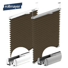 PLEATS Blinds Clip-fit Roller blind Obdcuration ATTACHMENT Curtain BROWN