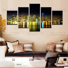 HUGE MODERN ABSTRACT WALL DECOR ART OIL PAINTING ON CANVAS The City Night View